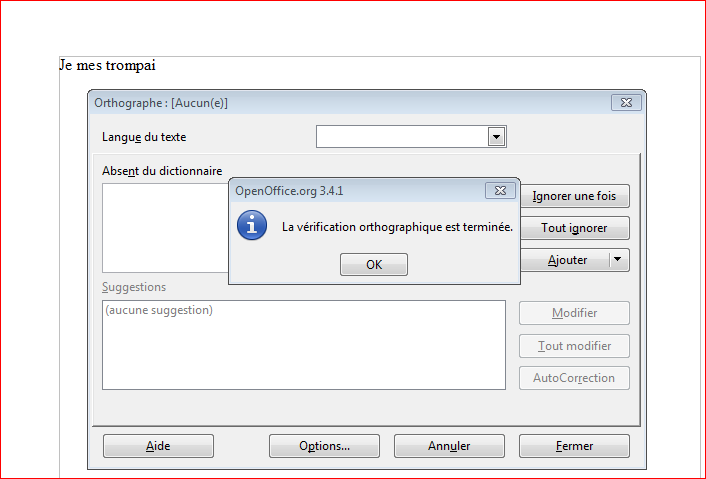 Open office windows forum fr - Correcteur orthographe open office ...