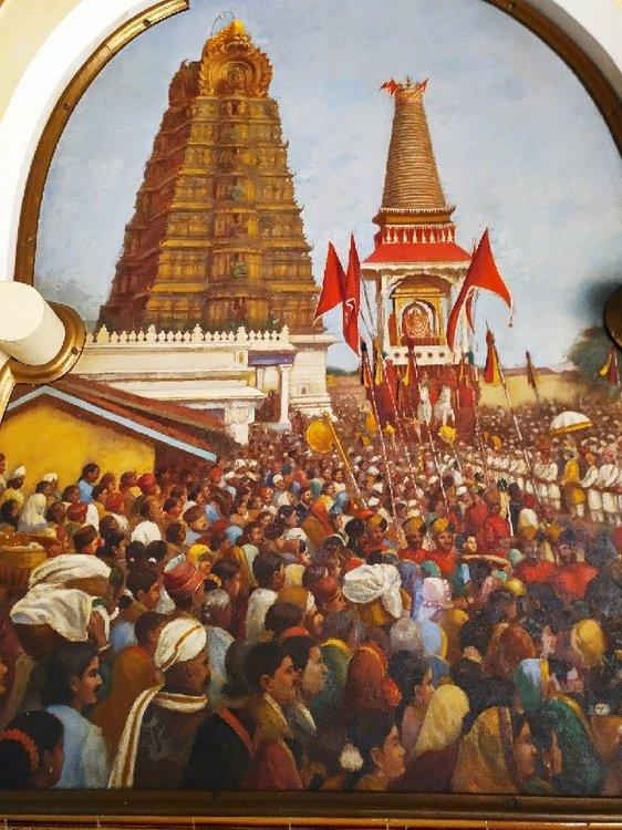 Détail toile Palais de Mysore
